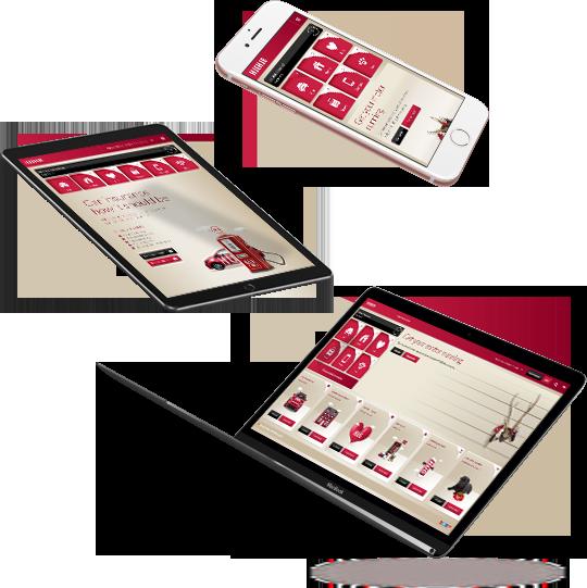 Laptop, iPad and phone screens