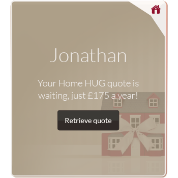 Personalised home insurance advert example for Jonathan