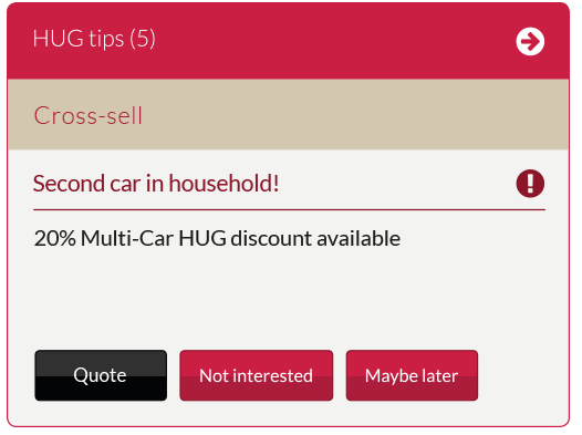 Intelligent discount tip personalised to the user