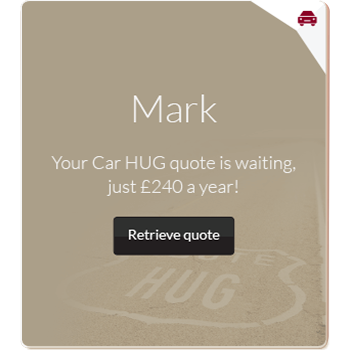 Personalised car insurance advert for Mark